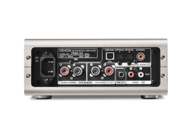 Denon PMA-50 Rear Full Screen Image | Audioholics