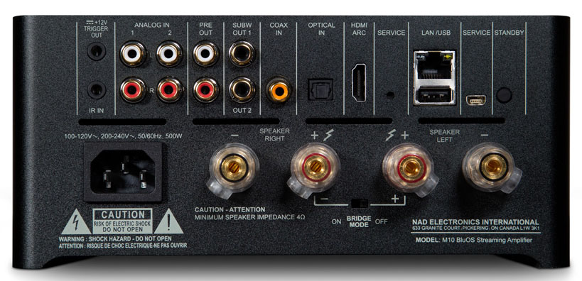 NAD's Masters Series M10 BluOs Streaming Amplifer Does It