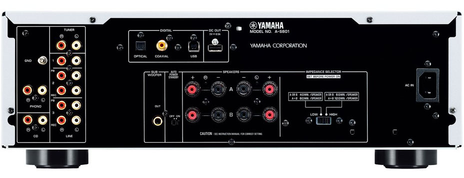 Yamaha a s801 integrated amplifier review audioholics for Yamaha audio customer service