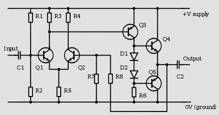 audio amplifier classes (a, a b, d, g, and h) what are theCircuit Diagram As Well Class Ab Audio Lifier Circuit Besides #20