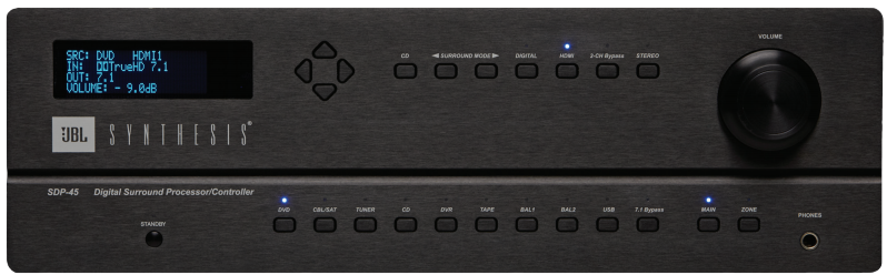 JBL Synthesis SDP-45 Surround Processor Preview   Audioholics
