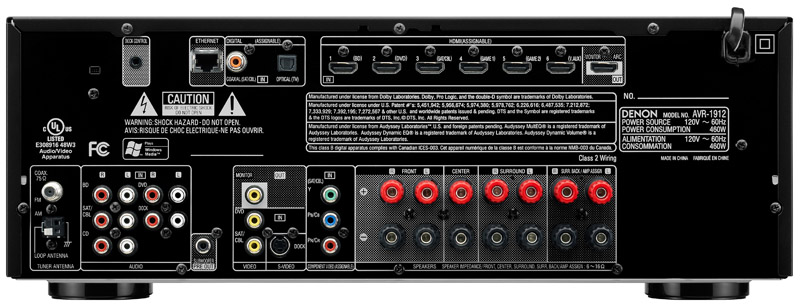 Denon AVR-1912 7 1 Channel Networked A/V Receiver Preview