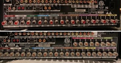 Denon X8500H vs X7200WA speaker terminals
