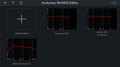 Load multiple Audyssey profiles