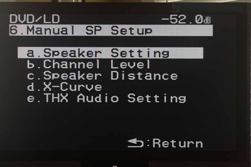 Pioneer VSX-94TXH Advanced Setup and Menu | Audioholics