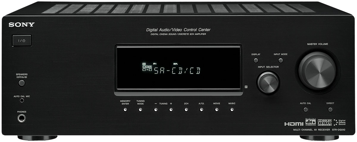 Sony Str Dg510 Receiver Overview Audioholics