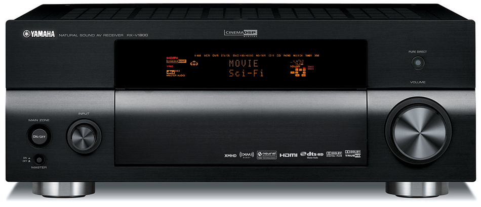 Yamaha+RX-V1800+7.1+Channel+Home+Theater+Receiver