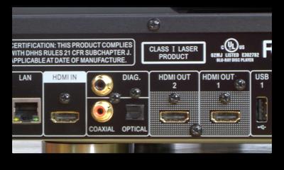 HDMI input outputs
