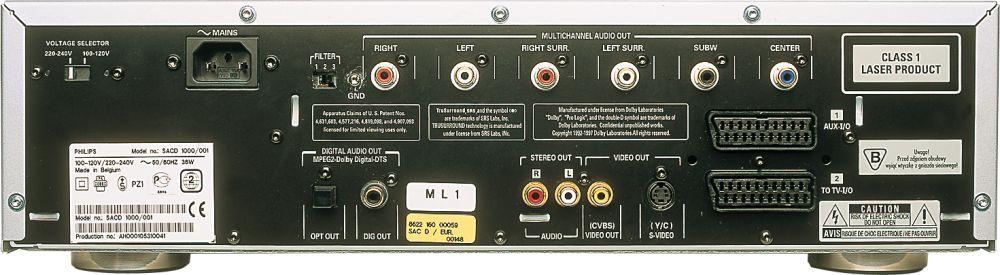 Philips SACD 1000 rear Full Screen Image