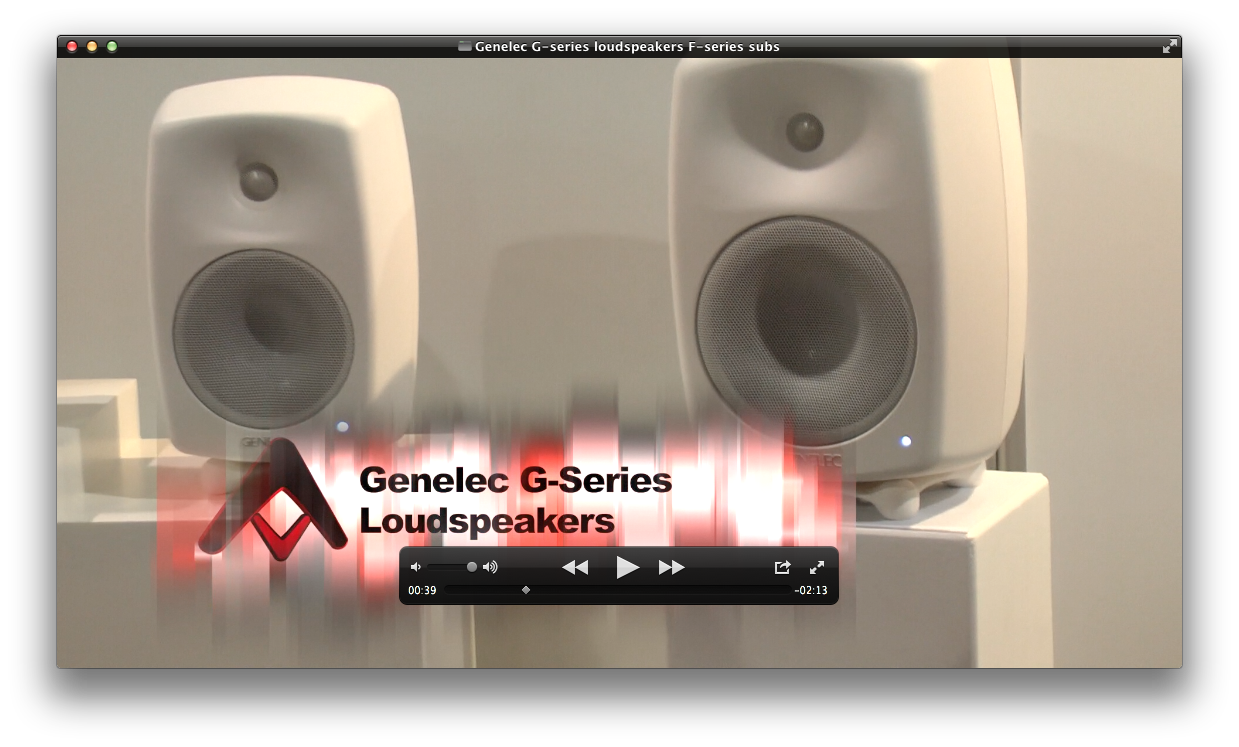 Genelec G Series Speakers and F Series Active Subwoofers  b63451405f58d