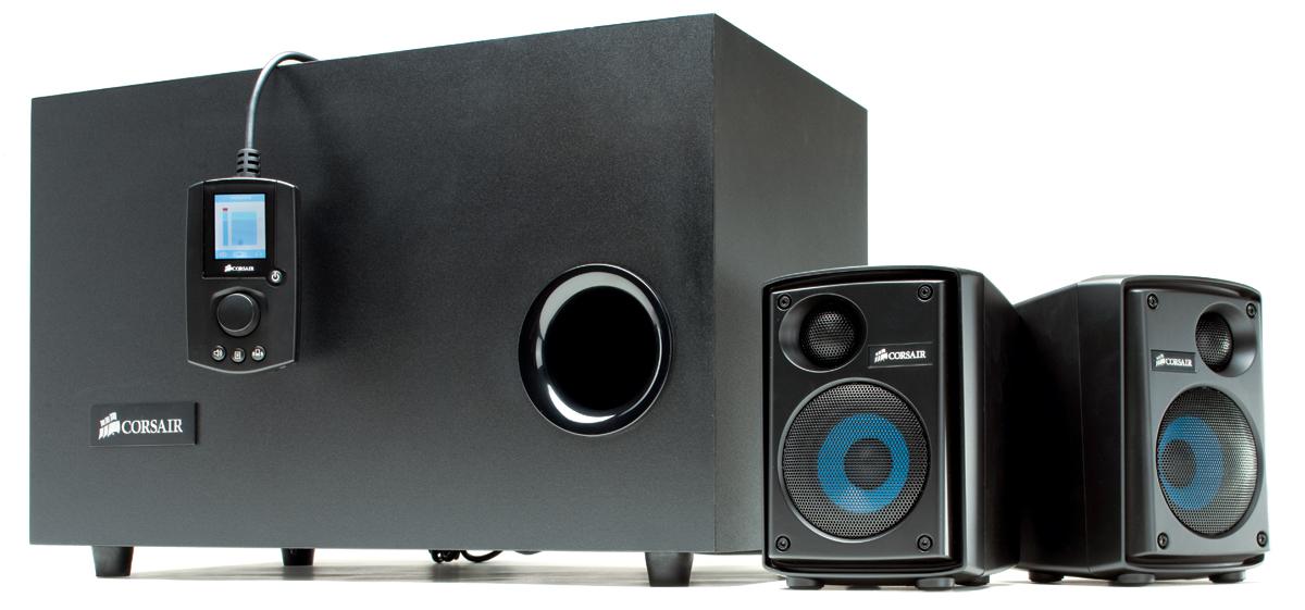 corsair sp2500 pc 2 1 speakers review audioholics