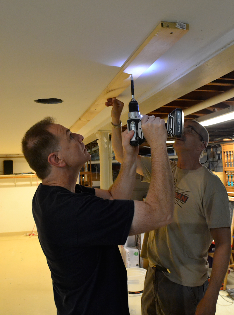 Drilling a ceiling trench for speaker wiring Full Screen ...