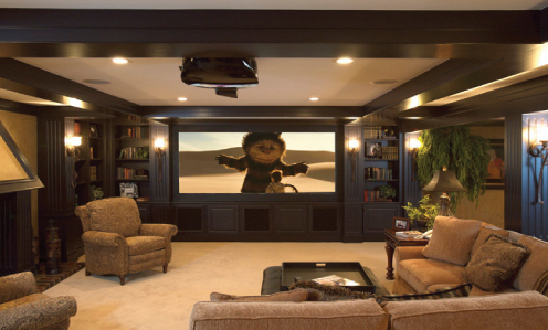 Renovating a family room into a home theater audioholics for House plans with media room