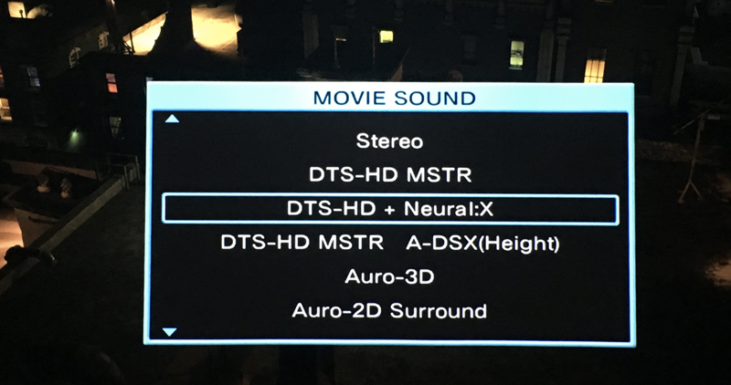 Listening Evaluation of DTS:X on the Denon AVR-X7200WA Receiver