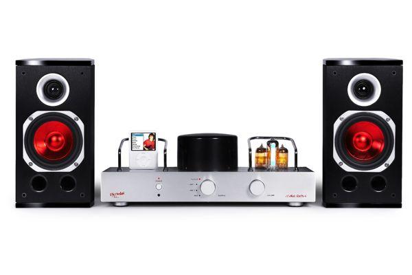 Fatman Itube Red I Integrated Amp W Speakers Amp Ipod Dock
