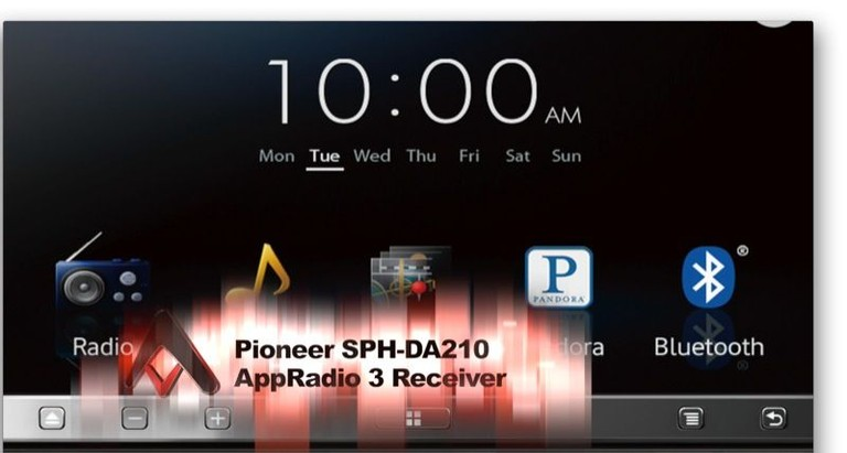 Pioneer AVH-X7500BT and SPH-DA210 AppRadio