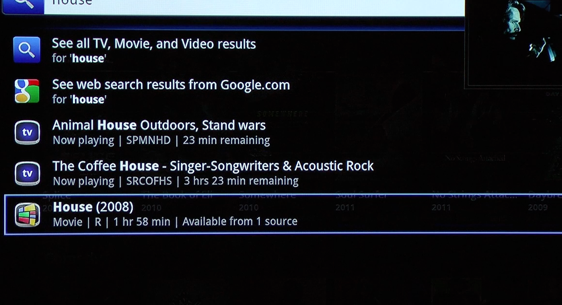 Google+TV+searching