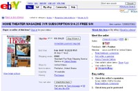 Home Theater Mag eBay subscription