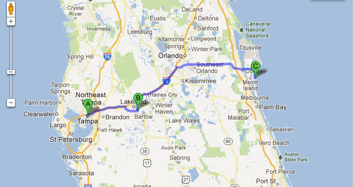 Coco Beach Florida Map Cocoa Beach Florida Street Map