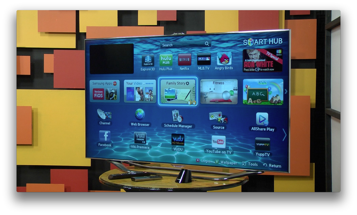 samsung 8000 smart hub full screen image audioholics. Black Bedroom Furniture Sets. Home Design Ideas