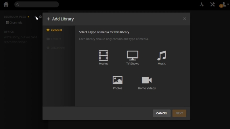 Plex Libraries Full Screen Image Audioholics