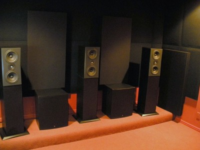 home theater front speakers. front 3 lcrs triad home theater speakers r