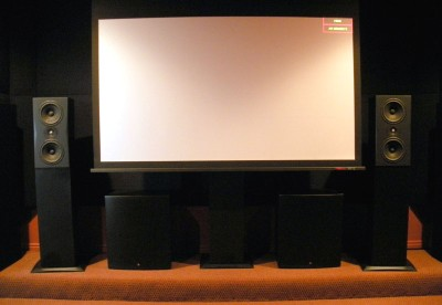 home theater front speakers. front triad w screen home theater speakers