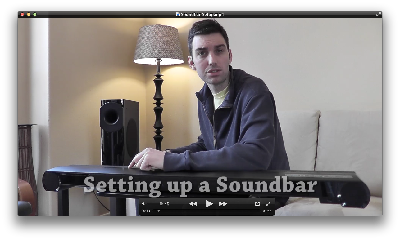 Setting Up a Sound Bar