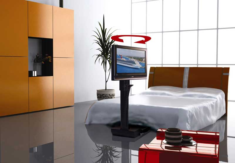 auton under the bed tv lift first look full screen image. Black Bedroom Furniture Sets. Home Design Ideas