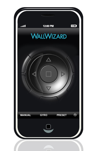 WallWizard+ControlWand+Motorized+Mount+iPhone+App
