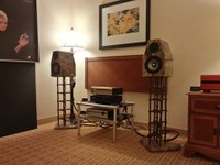 Status Acoustics Voce Fina Speakers and speaker stands