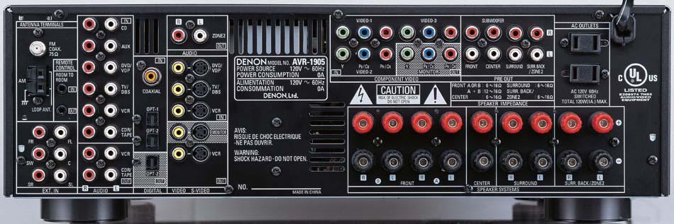 new denon receivers avr 2105 avr 5805 avr 2805 avr 1905 and rh audioholics com denon avr 1705 manual free Denon AVR Receiver