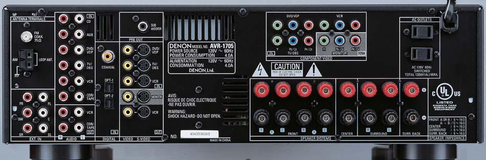 new denon receivers avr 2105 avr 5805 avr 2805 avr 1905 and rh audioholics com Denon AVR- 1910 Remote Control denon avr 1705 service manual