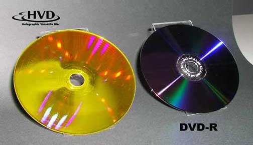 HVD (Holographic Versatile Disc) - 3,9 TB num disco!! Hvddisc