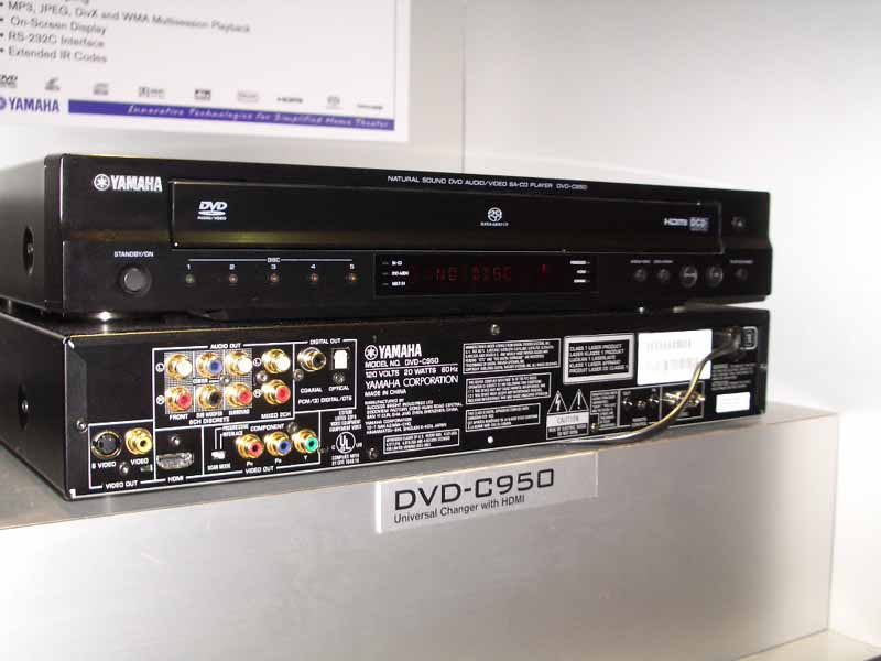 fc8074bce The DVD-C950 5-disc changer featuring Yamaha's patented PlayXchange, is  compatible with both DVD-Audio and Super Audio CD. The DVD-C950 offers  progressive ...