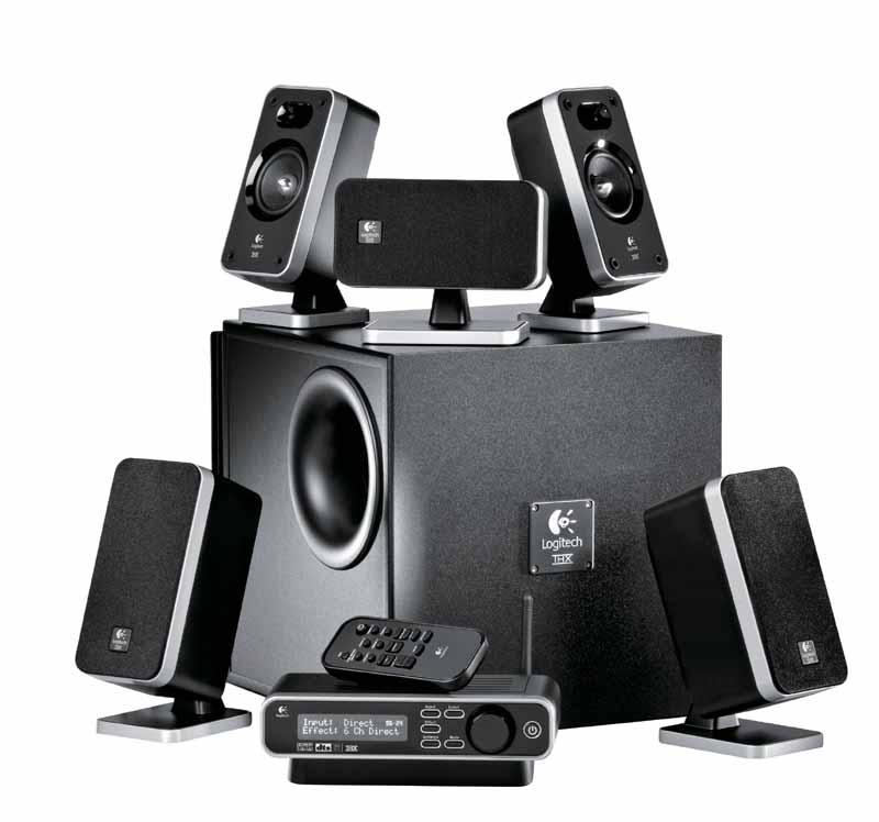 logitech z 5450 z 4 wireless 5 1 surround sound speaker. Black Bedroom Furniture Sets. Home Design Ideas