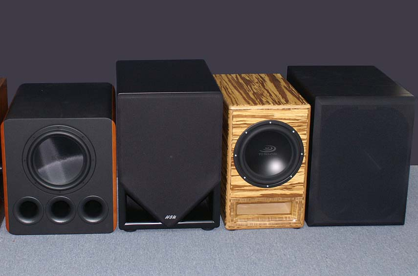 In Wall Surround Sound Speakers >> 2010 Subwoofer Shootout Room Size Recommendation Comparison | Audioholics