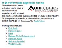 CEDIA HiPER Rooms Powered by Audioholics!
