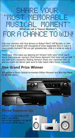 Denon+100th+Anniversary+Celebration+-+Win+FREE+Denon+Products