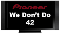 Pioneer drops 42-inch plasma production