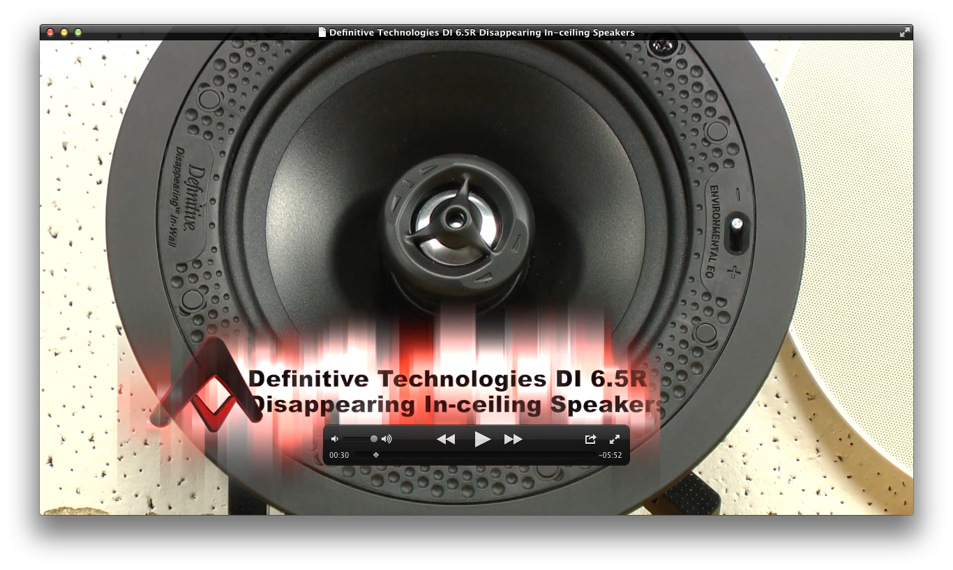 Definitive Technology Di 6 5r Disearing In Ceiling Speakers