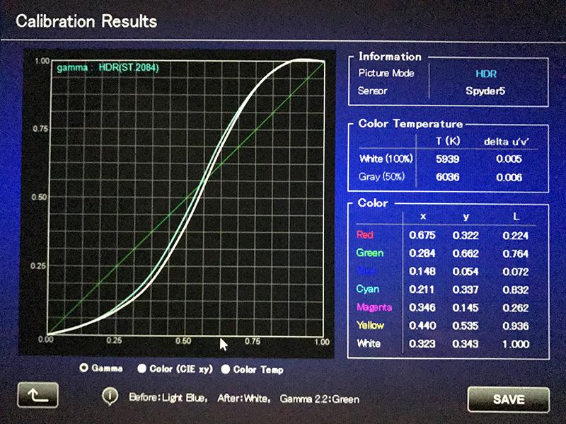 JVC DLA-X570R Projector Calibration | Audioholics