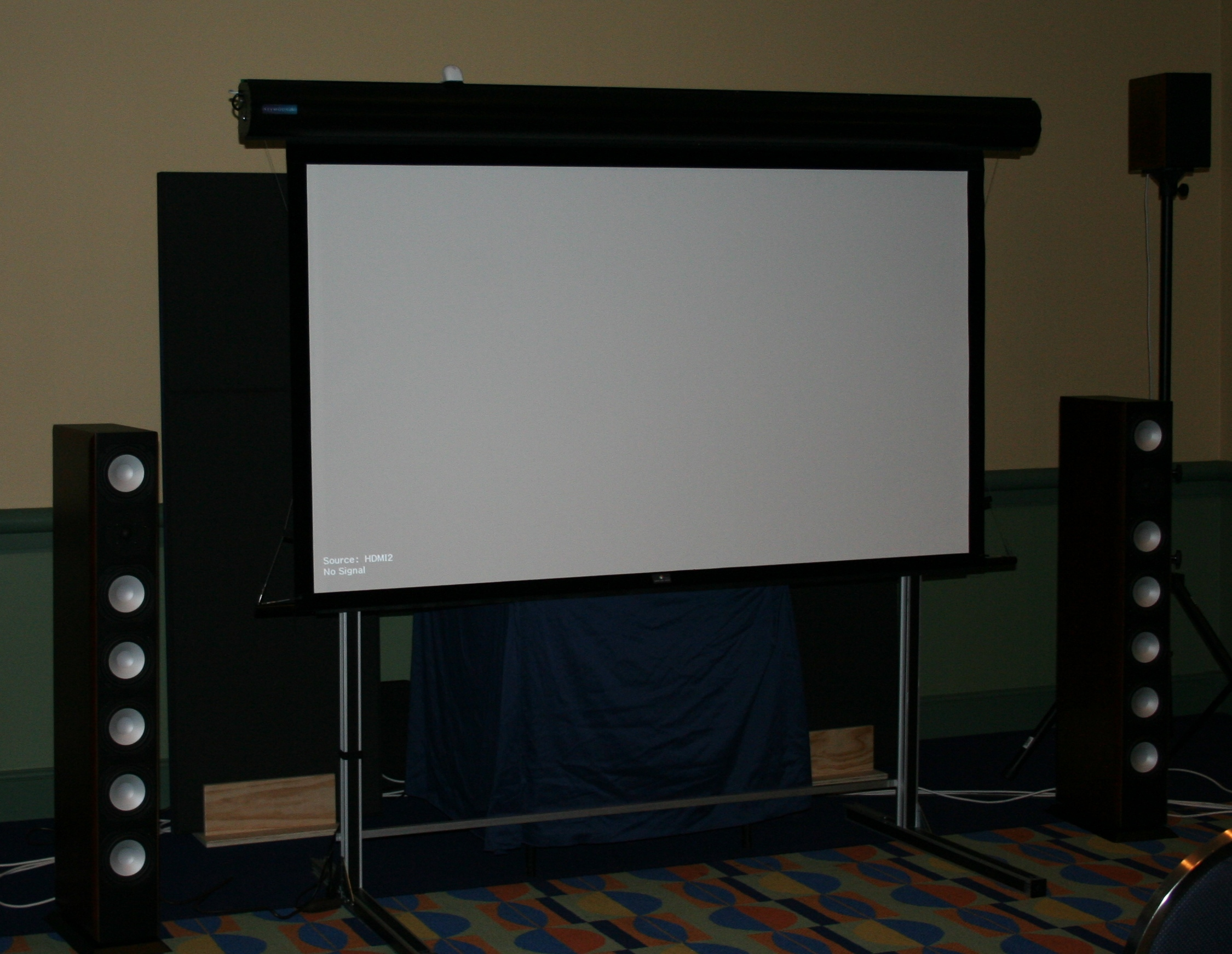 Seymour AV Accoustically Transparent Center Stage Screen In Action