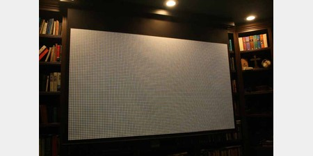 Home theater projector screen reviews audioholics for Motorized projector screen reviews