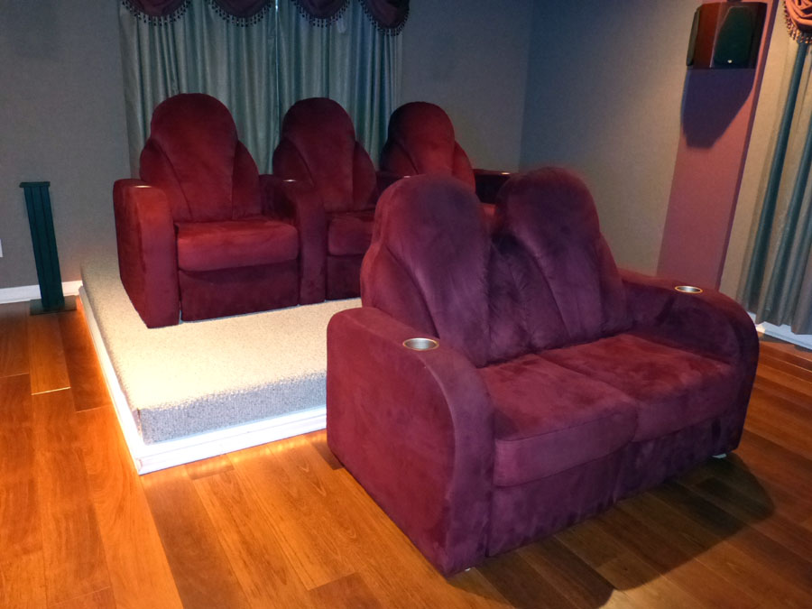 Back of theater chairs - Continental Seating Full Screen Image Audioholics