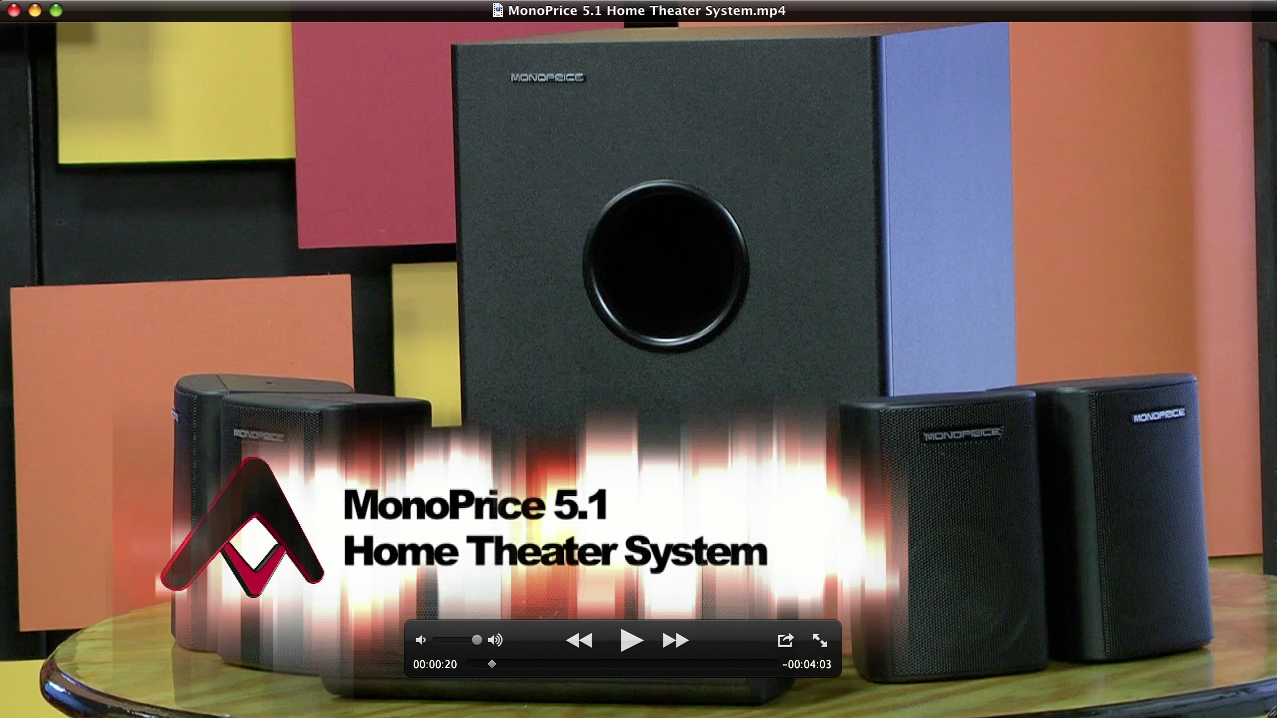 Monoprice 5 1 Home Theater Speakers Subwoofer