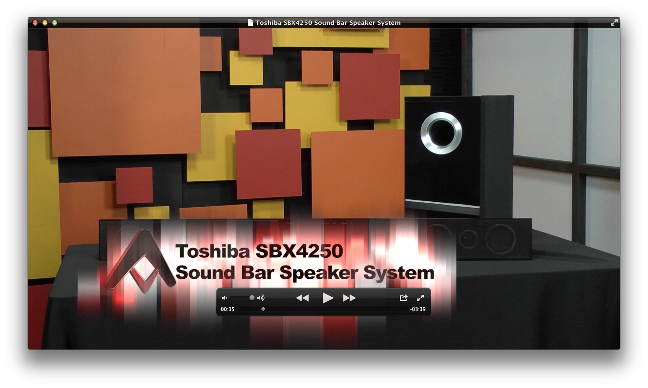 Toshiba Sbx4250 Sound Bar Speaker System Review Audioholics