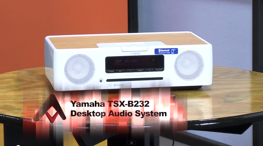 Yamaha TSX-B235WH Desktop Audio with Bluetooth White