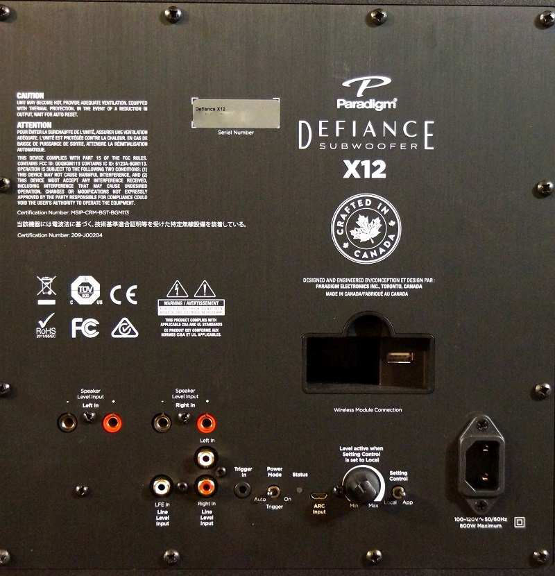 Paradigm Defiance X12 and V12 Subwoofers Review   Audioholics