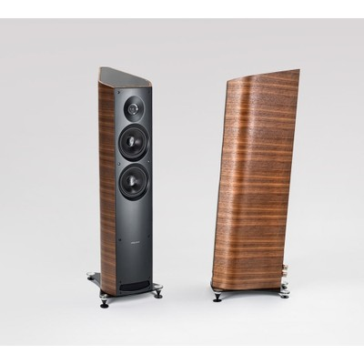 Geared Towards Home Theater And Ease Of Placement The Front Ported Cabinets Feature A Curved Lyre Shape Derived From